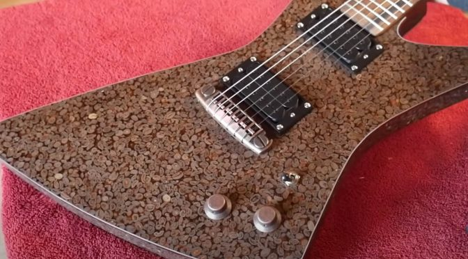 YouTuber builds an electric guitar out of 5,000 roasted coffee beans