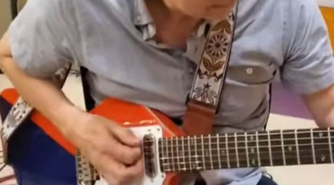 Brian May and Eric Johnson demo the new BMG Arielle signature